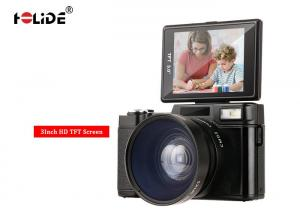 China 24MP Flash Image HD Digital Compact Camera 3 Inch Face Detect With Wide Angle Lens on sale