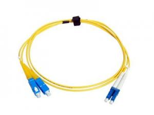 China G652D Single Mode Fiber Optic Cable LC-SC Patch Cord Duplex 0.9mm 2mm 3mm on sale