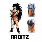 Manga Dragon Ball Raditz Custom Anime T Shirts With Printing Anti Wrinkle