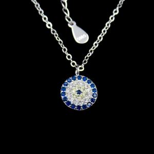 China Fashion 925 Sterling Silver Mens Chain , Single Cubic Zirconia Necklace on sale
