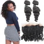 9A Grade 360 Lace Frontal Closure / Remy Lace Closure Piece Loose Tight
