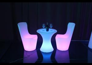 China Unbreak Colourful Led Outdoor Furniture , LED Lighted Bar Stools Stable Working on sale