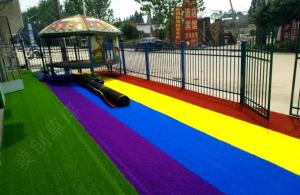 China Environmentally Friendly Artificial Grass Different Colors No Harm To Health on sale