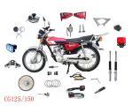 Venda a parte-bateria da motocicleta, o espelho lateral, a luz da cauda, etc.