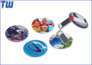 China Slim Round Card USB 8 GB Flash Drive High Printing Quality Best Price Best Service on sale