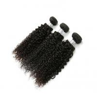 China Kinky Curly Natural Color Hair Bundles Human Hair Extensions For African American on sale