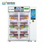 New Smart Refrigerator For Fresh Vegetables And Fruits Vending Machine Card Reader Payment System