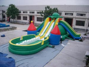 China PVC Inflatable Turtle Water Slide For Water Park Games on sale