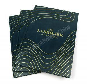 China Customized Luxury Leather Cover Book With Hot Foil Stamping on sale