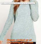 Crochet sweater, Lady's Hollow Out Crocheted Pullover O Neck Long Sleeve Casual Knitted Slim Women Sweater