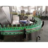 Non Gas Liquid Glass Bottle Filling Machine High Automatization Hot Filling Labeling Line