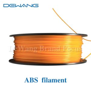 China Orange Flexible Consumables 3MM ABS Filament 1KG /Spool For MakerBot RepRap on sale