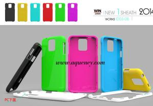 China Good design PC mobile phone case, include upper cover and lower cover phone cover on sale