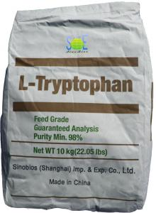 China 98% Pure L Tryptophan Powder Nutritional Livestock Feed Additives SAA-TRYL98 on sale
