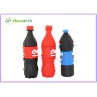Pepsi bottles PVC Customized USB Flash Drive / gift Personalised Usb Memory Stick