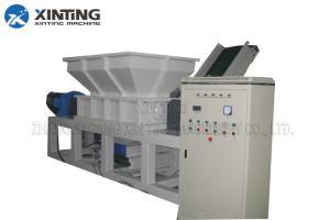 China plastic pp pe film double shaft shredder machine  fabric crushing machine on sale