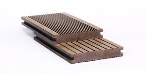 China WPC Solid floor,ome side pull groove, the other side is smooth on sale
