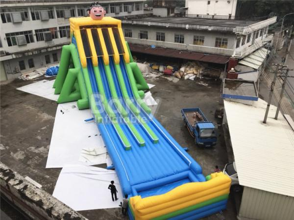 Commercial Grade 4 Lanes Wet Giant Inflatable Water Slide
