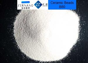 China No Silicosis Zirconia Ceramic Blasting Media Zirconium Sand B80 / B100 on sale