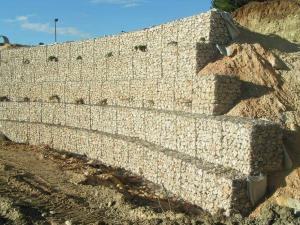 China Construction Wire Gabion Basket Stone For Retaining Wall Construction on sale