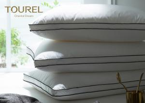China OEM Polyester Neck And Head Hotel Comfort Pillows With Memory Foam on sale