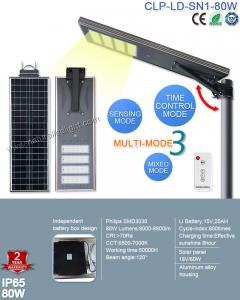 China 2017 Top Sale Outdoor IP65 Bridgelux 80W LED Solar Street with Patent Smart MPPT Controller on sale