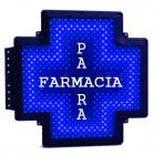 Outdoor LED Pharmacy Cross Signs Blue Color Italy PARAFARMACIA Letter