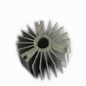 China Round Extruded Aluminum Heat Sinks with Powder spraying Surface finish on sale