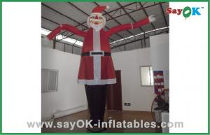 China Santa Claus Advertising Inflatable Air Dancer For Christmas Celebrate on sale