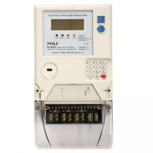 China Credit 3 Phase Prepaid Energy Meter , Smart Card Home Electricity Meter on sale