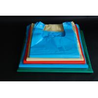 China Large Size Disposable Plastic Grocery Bags Flexo Printing For Fast Food Packing on sale
