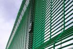 Green Powder Coating 358 Triangle Bending Security Wire Mesh Fence