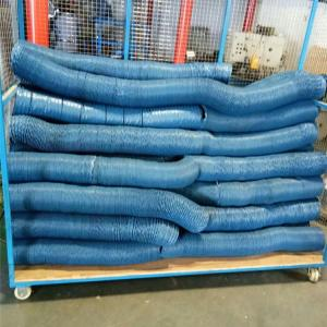 China Cheap price industrial duct extractor 160mm PVC coated glass fiber ducting on sale