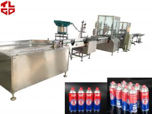 China Automatic Butane Gas / Cartridge Filling Machine 2000-3200 Cans/Hr Cost Effective on sale