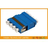 FTTH CATV LC/PC Fiber Optic Adapter 4 Way Blue ,  SM / MM LC Optical Adapter