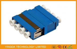 China FTTH CATV LC/PC Fiber Optic Adapter 4 Way Blue ,  SM / MM LC Optical Adapter on sale