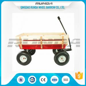 China Various Colors Garden Utility Cart WagonSteel Mesh Bed 150kg  Load Capacity on sale