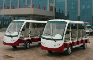 China Fourteen Passengers 4.2 KW Electric Shuttle Bus , Trojan Battery Street Legal Electric Cart on sale