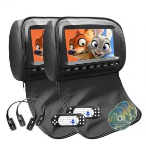 China 1080P Leather Cover Car Headrest DVD Monitor DC 6V - 18V Power Supply on sale