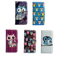 Cute Cartoon Owl Stand Wallet Flip LG Cell Phone Covers Light Weight
