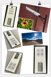 China 60w 80w  all in one solar street light lamp fixture road garden yard motion sensor 12V customized any style post garde on sale