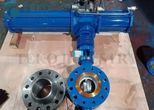 China Triple Offset Metal Seated Eccentric Butterfly Valve Pneumatic Operated on sale