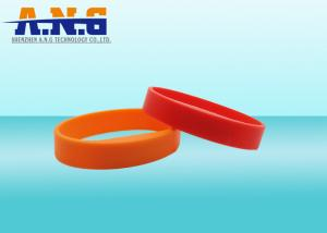 China ISO14443A CMYK Printing silicone rfid bracelets For Membership Management on sale