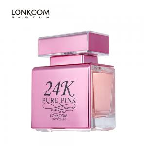 China Lonkoom parfum perfume for women original 24K Pure Gold 100ml EDP Floral-Fruity perfume manufacturer long lasting on sale