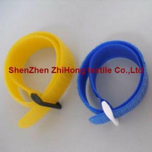 Multi-colored self-locking Velcro hook loop buckle cable tie ...