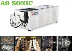China Oil Diesel Engine Block Ultrasonic Cleaning Machine With Oil Filter Transducer 28Khz on sale