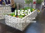656 Twin Wire Welded Gabion Boxes Planters, Gabion Raised Garden Beds, Steel Flower Planters, Stone Basket Plant Stand