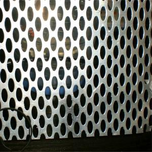 China PVC coated perforated sheet/galvanized perforated metal sheet on sale