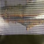 1000D X 1000D, 3X3 PVC Clear mesh fabric with polyester mesh