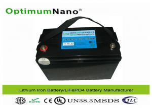 China Lifepo4  Li Ion Deep Cycle 100Ah 12V Lithium Battery for Solar System / UPS / Telecom on sale